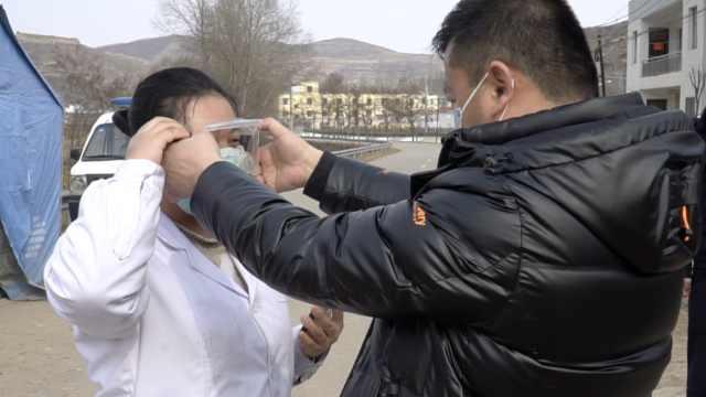 男子辗转各乡镇,3天送900副护目镜