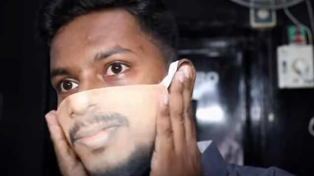 """印度推出""""人脸口罩"""",再也不用担心朋友认不出你了"""