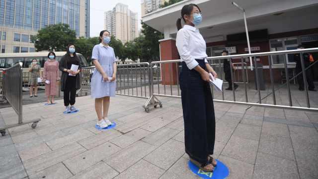 直播:2020北京高考,考生座位间距1米,须全程戴口罩