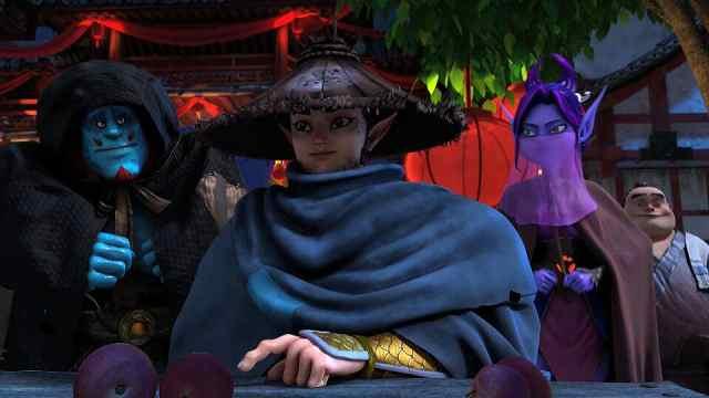 《柳毅传奇》的黑龙出场太能了!动画片做成了电影的分镜!