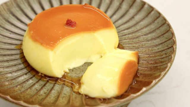 桂花焦糖布丁:能垫肚子的厚版布丁