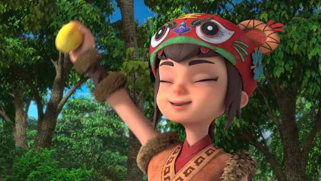 【柳毅传奇】虎女是动画片里的小吃货,看她吃得香,喜感十足