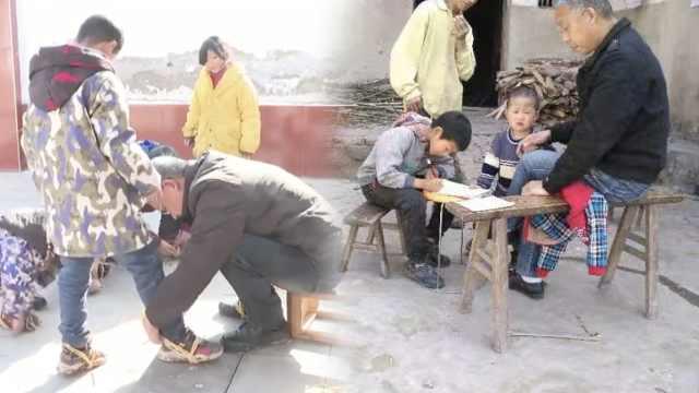 雨雪天上学路滑,四川一乡村教师为全校11个学生编防滑神器