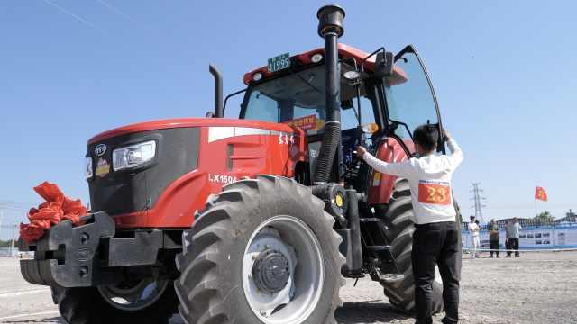 拖拉机竟然也有比赛!模拟田间作业,间接提升粮食收割产量