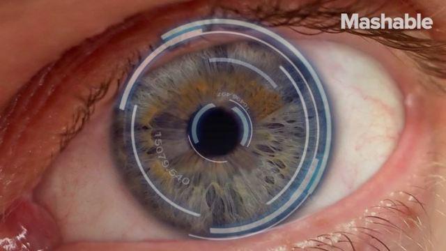 智能隐形眼镜,眨眼拍摄照片视频