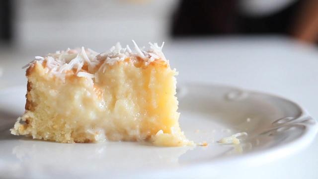 饱含椰浆的椰蓉蛋糕,好吃又好看