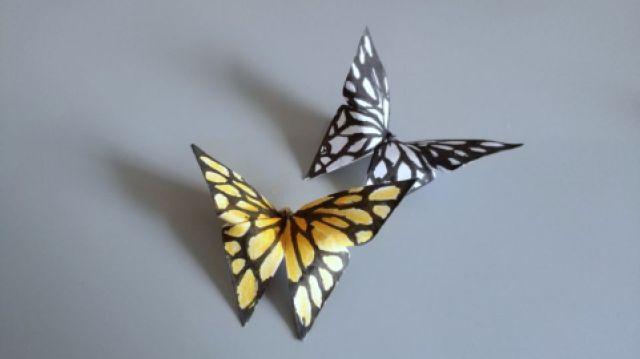 这折纸蝴蝶太逼真了,做法也超简单