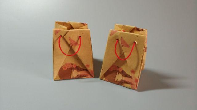 礼品袋原来可以这样折出来,好简单