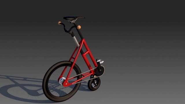 这自行车真怪了!什么姿势才能骑?
