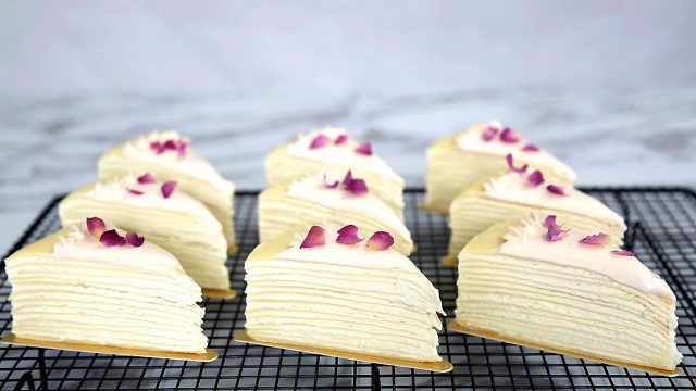 玫瑰千层蛋糕,品相味道俱佳