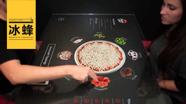 1个披萨8个味,必胜客造智能餐桌