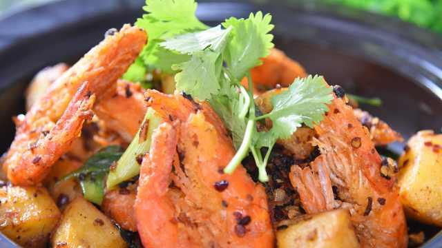 干锅香辣虾,在鲜香辣中体验人生!