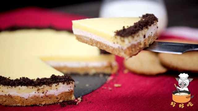 用3个消化饼干做出乳酪布丁蛋糕