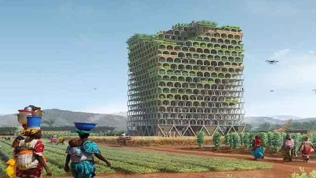 可移动的摩天大楼里种菜,造福大众