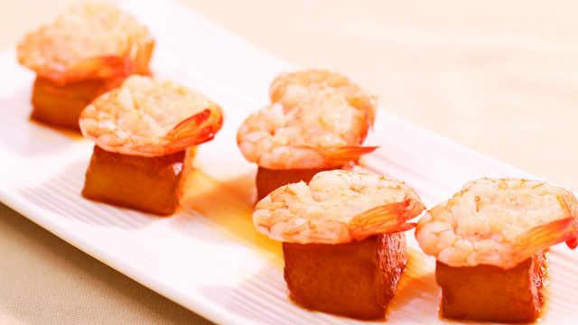 冬瓜虾仁做成的冬季料理,超暖心