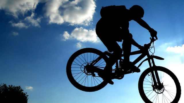 真人版疯狂山地自行车