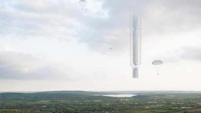 这楼每天能绕地球一圈,出门靠跳伞