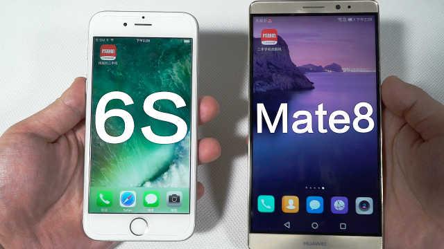 iPhone6s对比华为mate8!