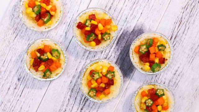 米飯最新奇的吃法:鮮蔬米飯撻