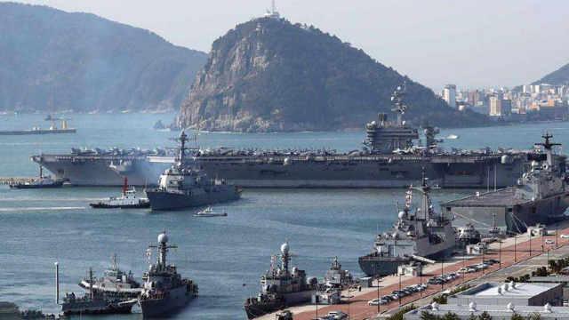 美军赴韩军演 中国受益?