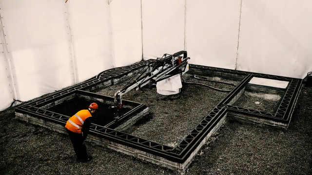 3D打印技术建造出水泥房屋