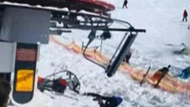 格鲁吉亚滑雪场缆车失控致多人受伤