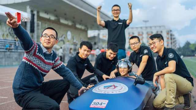 大学生自制节能电动车,能躺着开!