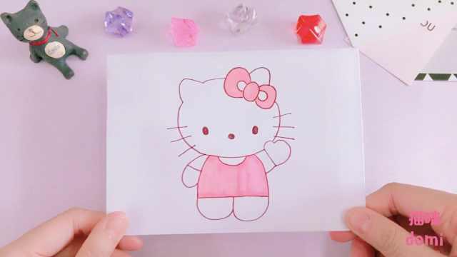 domi教你手绘小猫可爱得不得了