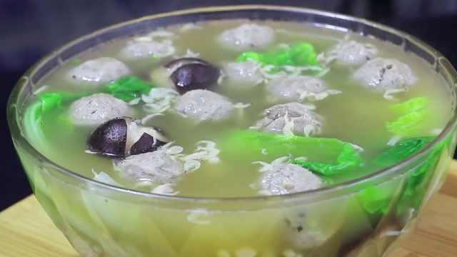 菌菇牛丸汤,滋补又美味