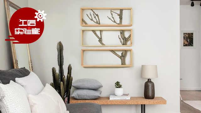 DIY原木树枝壁挂,堪称艺术品