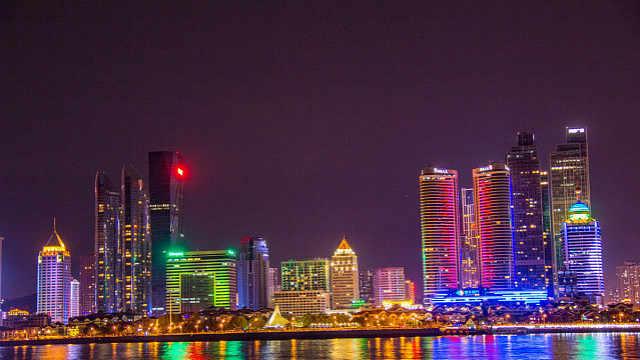 超炫青岛夜景来了,这次是崂山的!