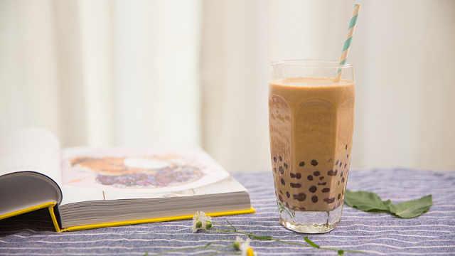 甜甜香香的黑糖奶茶喝上瘾