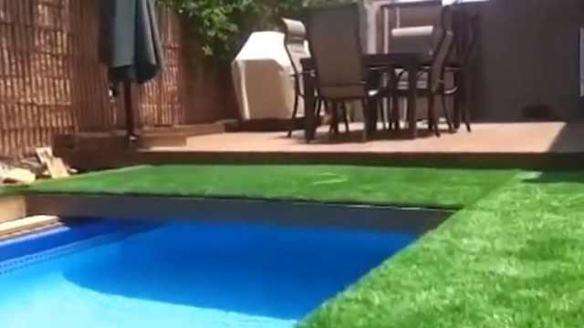 工程师奇思妙想,草坪下面建泳池