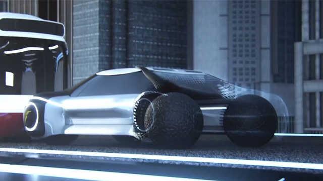 3D打印的球体轮胎,可四面八方运动