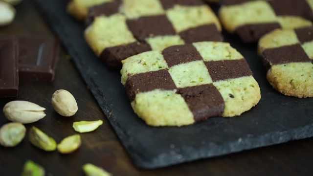 简易美味的棋格饼干,自制双色饼干