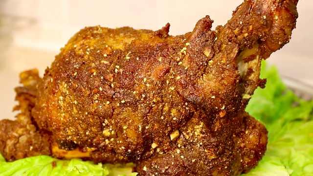 自制家庭版烤羊腿,简单易学超美味