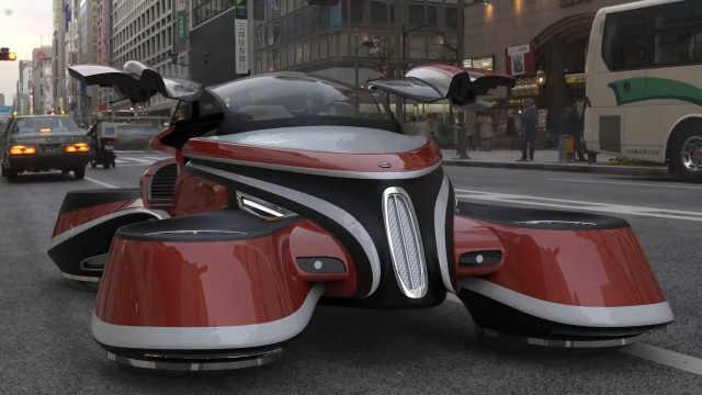 电影中的电动飞行汽车成为了现实?