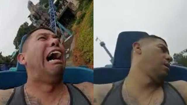 刺激!美国一男性在坐过山车时吓晕