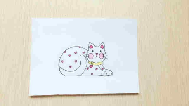 快跟着domi一起画小花猫吧