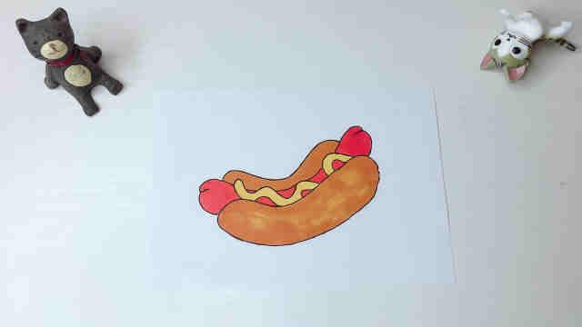 喜欢热狗吗?跟着domi画起来吧