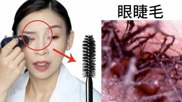 亲测!网红显微镜观察妆前妆后的脸