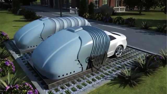为解决停车难,他们发明可折叠车库