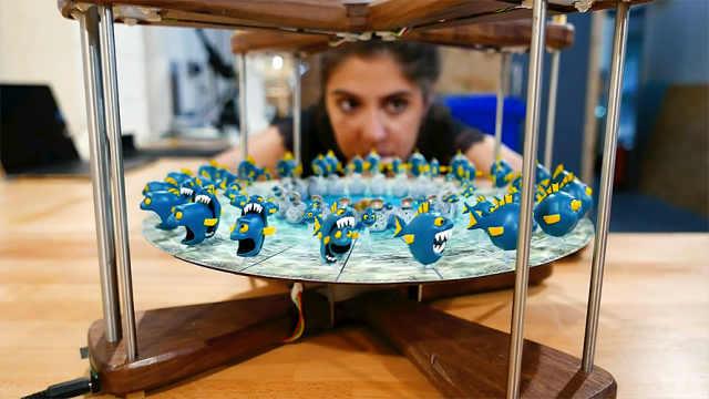 交互式3D西洋镜让3D打印模型动起来