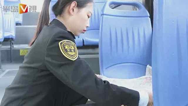 """暖心公交驶上路:座椅穿""""棉垫"""""""