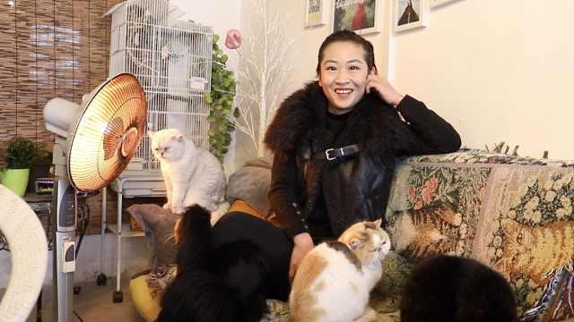 36岁剩女只爱养猫:6年只出门1次