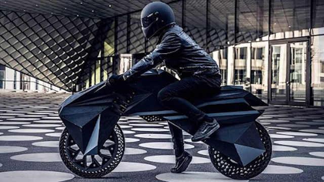 全球首款3D打印摩托车,外观超拉风