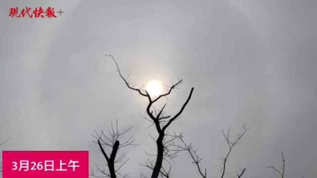 南京上空出现日晕!这是要下雨了吗