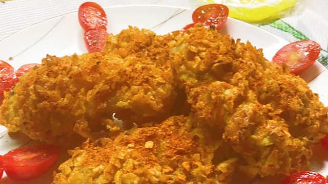 薯片鸡翅,无比美妙的味道!