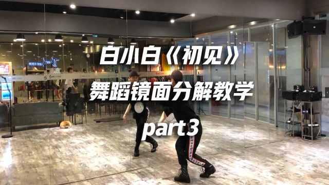 《初见》舞蹈镜面分解教学part3