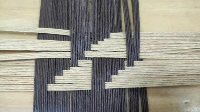 竹编基础编织教程梯形编织法